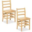 """ECR4KIDS 18"""" 3 Rung Ladderback Chair - Assembled"""