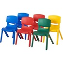 "ECR4KIDS 14"" Assorted Resin Chair Pack, 6 Piece"