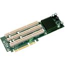 Supermicro 3-slot PCI-E to PCI-X Active Riser Card - 3 x PCI-X