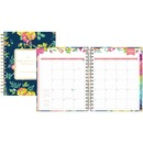 Blue Sky 7x9 Navy Floral Weekly/Monthly Planner