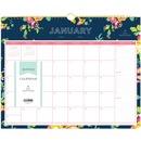 Blue Sky Day Designer Navy Floral Wall Calendar