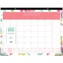 Blue Sky Day Designer Floral Desk Pad
