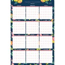 Blue Sky Day Designer Navy Floral Yearly Planner