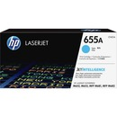 HP 655A Original Toner Cartridge - Cyan
