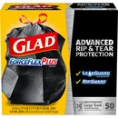 Glad ForceFlexPlus Large Trash Drawstring Bags