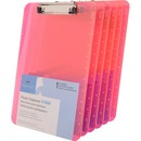 Sparco Transparent Plastic Clipboards with Flat Clip