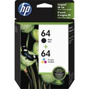 HP 64 Original Ink Cartridge - Black, Tri-color