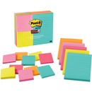 Post-it® Super Sticky Notes, Assorted Sizes, Miami Collection