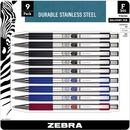 Zebra Pen BCA F-301 Stainless Steel Ballpoint Pens
