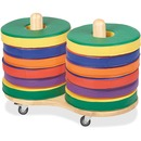 ECR4KIDS Colorful Donut Cushions Set