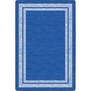 Flagship Carpets Double Light Tone Border Blue Rug