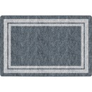 Flagship Carpets Double Light Tone Border Gray Rug