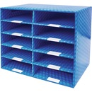 Storex 10-compartment Mailroom Sorter