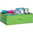 Teacher Created Resources Lime Polka Dots Storage Bin