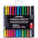 Zebra Pen Zensations Fineliner Pens