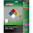 "Avery® Surface Safe(R) Sign Labels, 8"" x 8"", Removable Adhesive, Water & Chemical Resistant, 15 Labels (61513)"