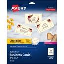 Avery&reg Clean Edge Laser Print Business Card