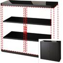 "Paperflow USA Black 41"" Storage Cabinet Top/Back"