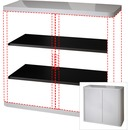 """Paperflow USA Gray 41"""" Storage Cabinet Top/Back"""