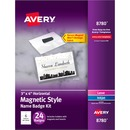 Avery® Secure Magnetic Name Badges, Durable Plastic Holders, Heavy-Duty Magnets, 3 x 4, 24 Badges (8780)