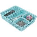 Advantus Plastic Weave Bin Set