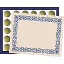 Flipside Art Deco Blue Border Certificate Pack
