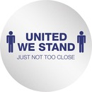"""Deflecto StandSafe 20"""" Personal Spacing Disks - United We Stand"""