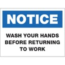 SIGN,WASH HANDS,8X6,WE