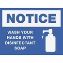 SIGN,WASH HANDS,8X6,BE