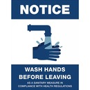 SIGN,WASH HANDS B4,8X6,CO LO