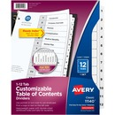 Avery® Ready Index Customizable Table of Contents Black & White Dividers