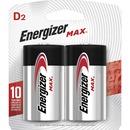 Energizer MAX Alkaline D Batteries, 2 Pack