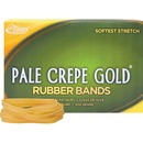 Alliance Rubber 20645 Pale Crepe Gold Rubber Bands - Size #64 - 1 lb Box