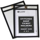 C-Line Stitched Plastic Shop Ticket Holder