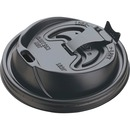 Dart Black Plastic Reclosable Lids
