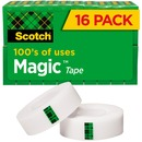 "Scotch® Magic™ Tape, 3/4"" x 1,000"", 16 Boxes/Pack, 1"" Core"