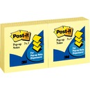 "Post-it® Pop-up Dispenser Notes, 3""x 3"", Canary Yellow"