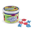 "(Lowercase Letters) Shape - Magnetic - Non-toxic - Letter Height: 1.5"" - Blue Consonants - Red Vowels - Assorted - Foam - 108 / Set"