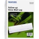 Rediform Follow-Up Voice Mail Log Book