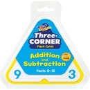 Trend Three-Corner Add/Subtract Flash Card Set