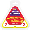 Trend Multiplication/Division Three-Corner Flash Card Set