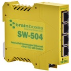 Brainboxes SW-504 Industrial Unmanaged Ethernet Switch 4 Ports