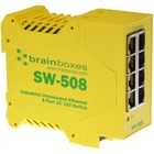 Brainboxes Industrial Unmanaged Ethernet Switch 8 Ports