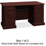 Bush Business Furniture Syndicate 60W Double Pedestal Desk Box 1 of 2
