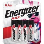 Energizer MAX Alkaline AA Batteries, 8 Pack - For Multipurpose - AA - 1.5 V DC - Alkaline - 8 / Pack EVEE91MP8