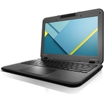 "Lenovo N22-20 80SF001JCF 11.6"" LCD Chromebook - Intel Celeron N3060 Dual-core (2 Core) 1.60 GHz - 2 GB LPDDR3 - 16 GB Flash Memory - Chrome OS - 1366 x 768 - Twisted nematic (TN) - Business Black"