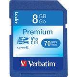 Verbatim 8GB Premium Secure Digital High Capacity (SDHC) Card - Class 6