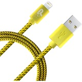 Patriot Memory 3.3 ft Lightning Woven Cable - Yellow/Grey (PCALC3FTNGN).