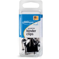 ACCO Binder Clips Assorted Sizes 15Pack SWI71753