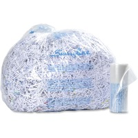 Durable, plastic bags neatly capture shreddings to simplify the process of disposing your shredded materials. Tear-resistant construction provides reliable containment of sensitive items. Clear material lets you see inside the bag to quickly determine the fill level. Bags are designed for use with Swingline CHS10-30, CM15-30, CSM11-44, CX30-55, CX25-36, CX22-44, CX40-59, CS50-59, CS39-55, CS25-44 and CS30-36 shredders.